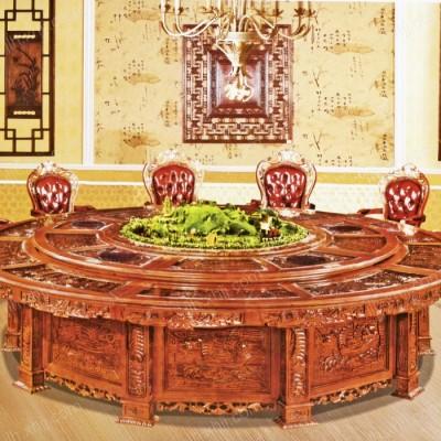 豪华酒店餐桌椅 大型电动圆餐桌02
