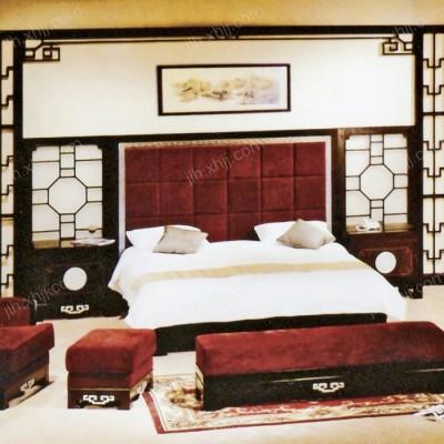 简约套房双人床 新古典布艺酒店套房07