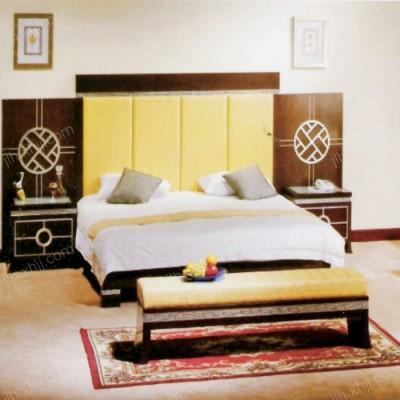 酒店宾馆套房家具 单间标间套房床06