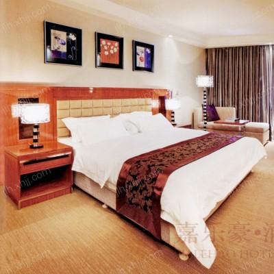 嘉乐豪实木双人床 现代软包床头套房05