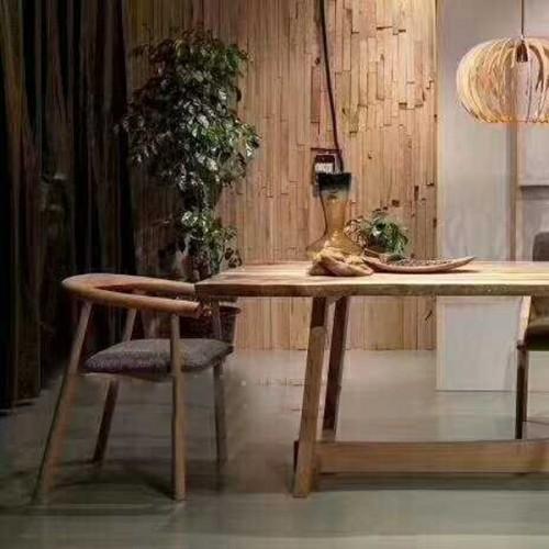 7101两米餐桌白蜡木简约北欧风,