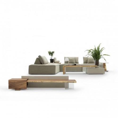 慕友DAaZ北欧原创个性合欢实木沙发原生态木蜡油香河专卖店