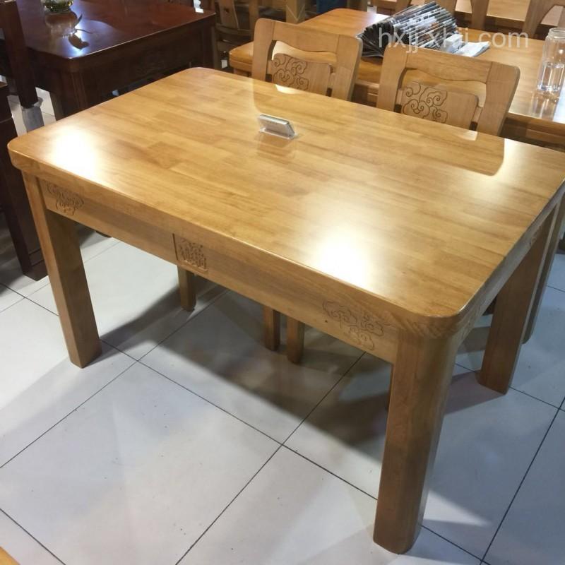 香河家具城 深色实木餐桌椅 橡木餐桌椅 厂家直销
