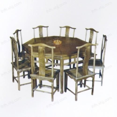 实木雕刻餐桌26