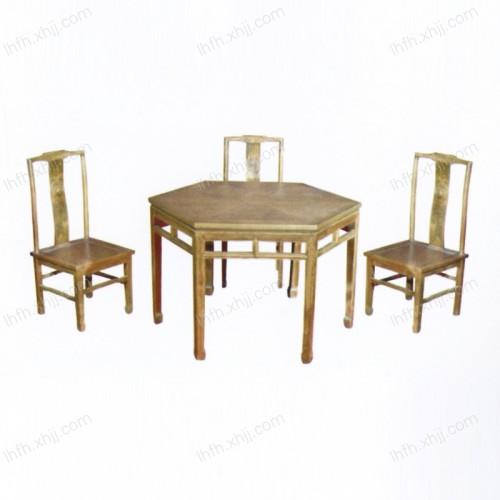 实木雕刻餐桌25