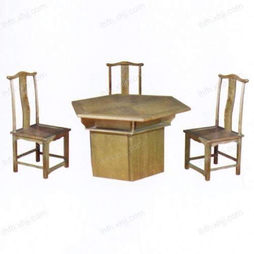 实木雕刻餐桌24