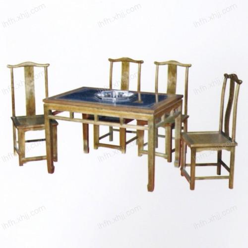 实木雕刻餐桌23