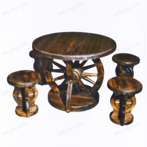 实木雕刻餐桌10