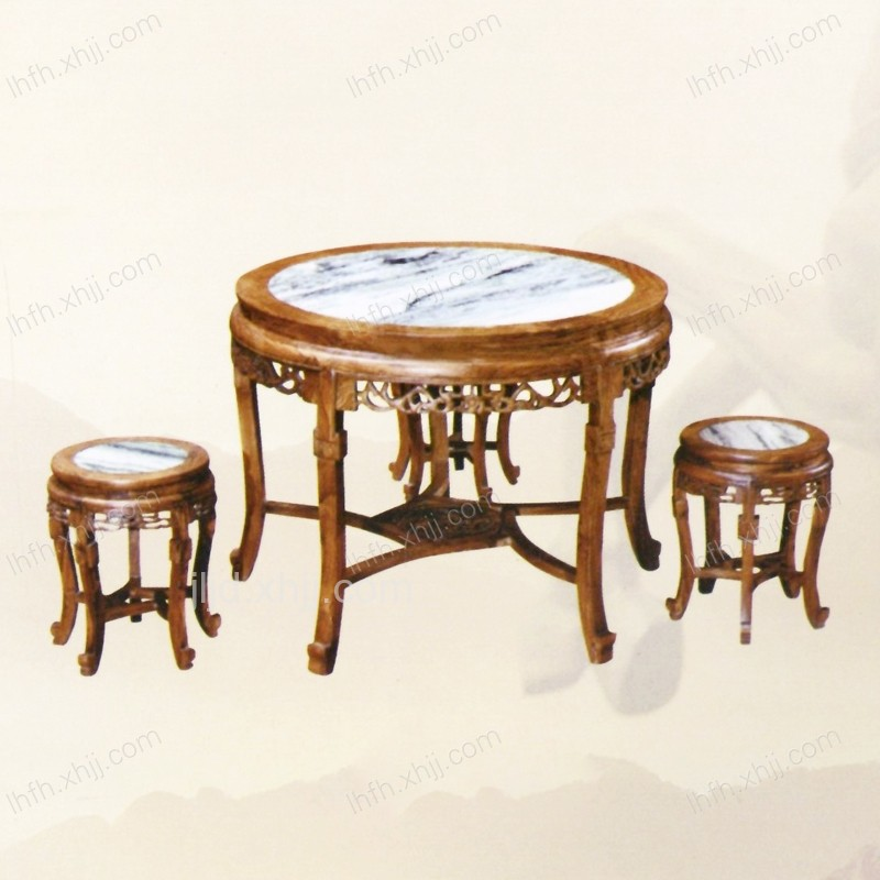 实木雕刻餐桌07