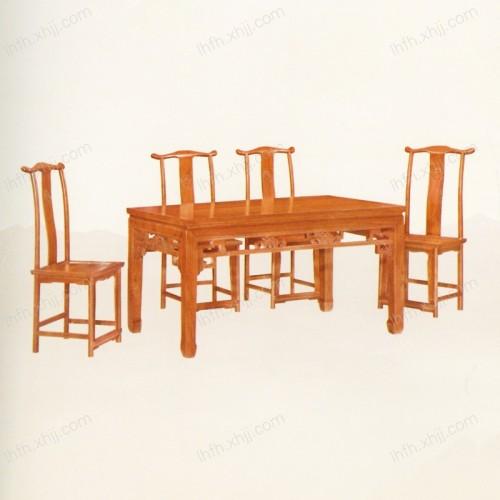 实木雕刻餐桌 06