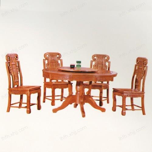 实木雕刻餐桌 02