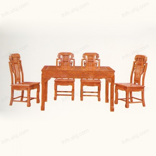 实木雕刻餐桌 01