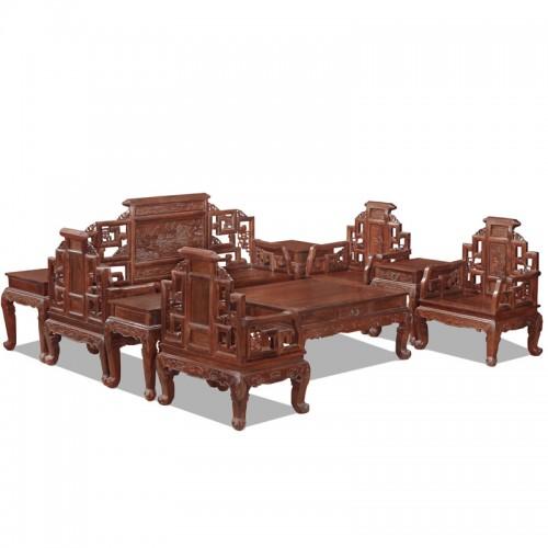 中式非酸枝古典沙发10