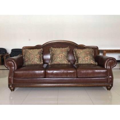 经典美式实木沙发