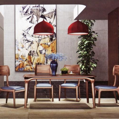 意式风格柚木餐桌椅10