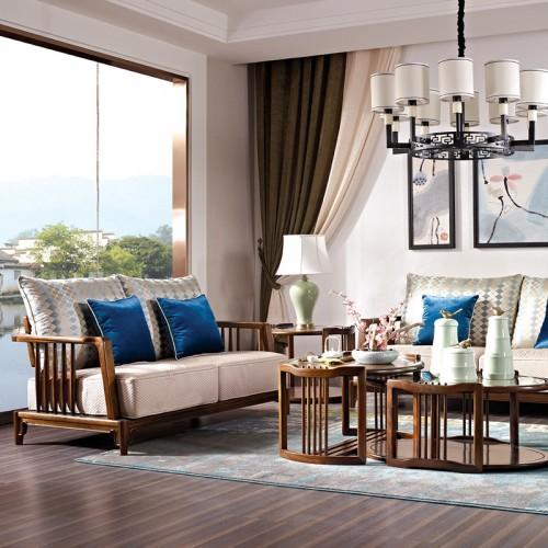 新中式中国概念沙发茶几301客厅