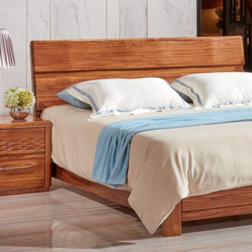 中式乌金木实木卧室床24