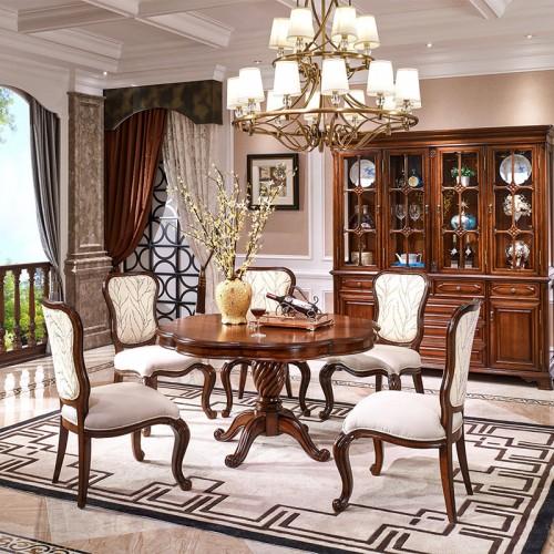 新古典美式餐桌椅82