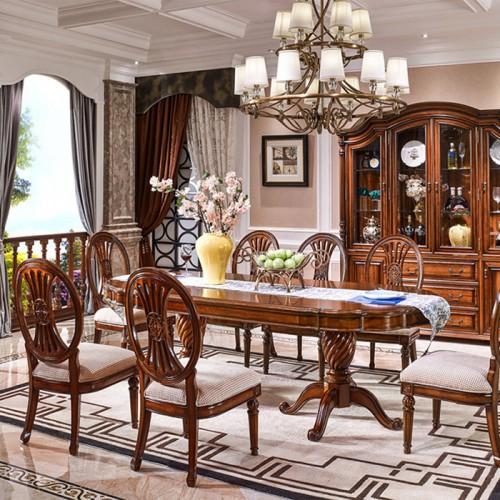 新古典美式餐桌椅酒柜81