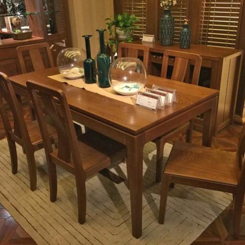 实木餐桌椅 古典餐厅餐桌27