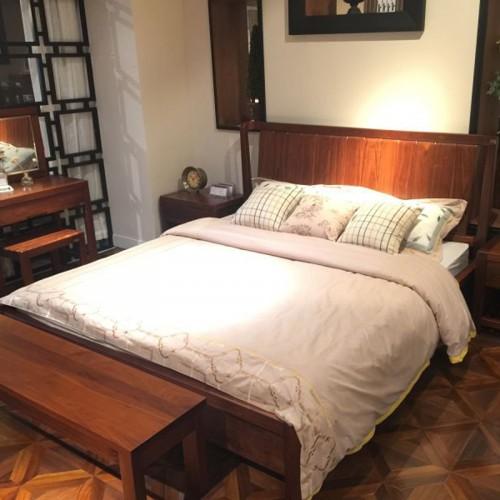 乌金木床 实木卧室双人床26