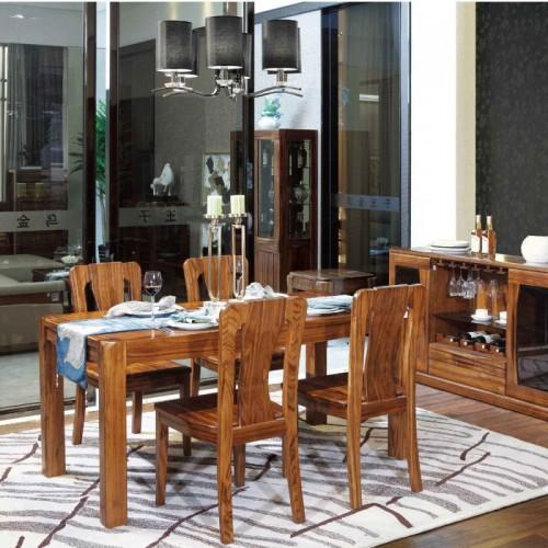 乌金木餐桌椅组合04