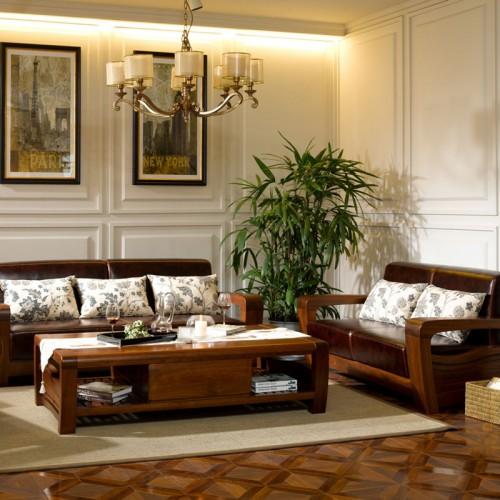 乌金木客沙发厅组合 新中式奢实木沙发24
