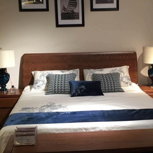 全实木床 中式卧室床21
