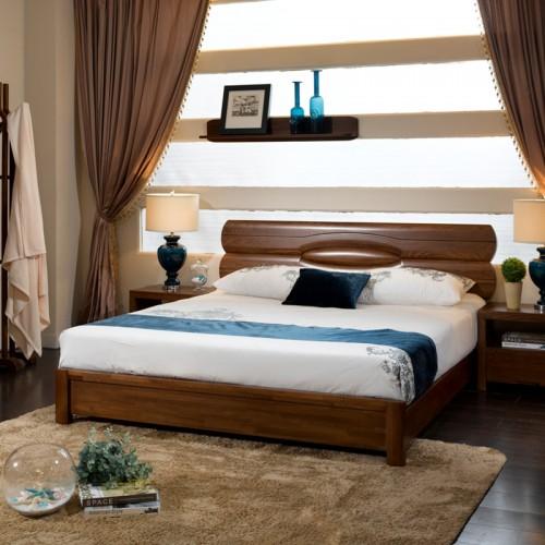 现代中式双人床 主卧实木床20