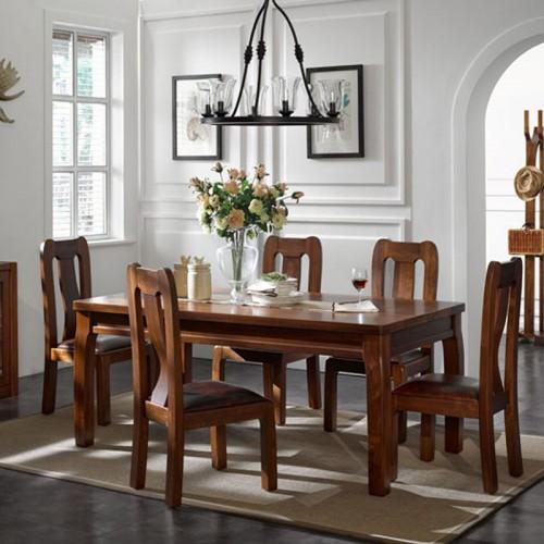实木餐桌椅 现代简约长形餐桌18
