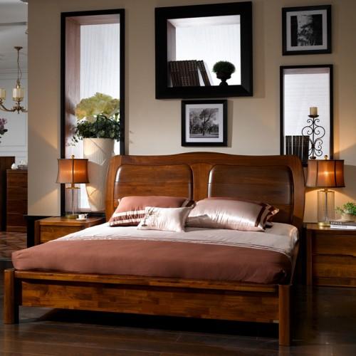 实木双人床 简约现代中式床17