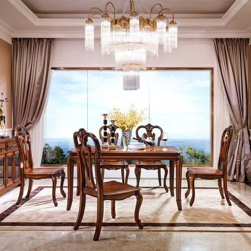 新古典美式餐桌椅76