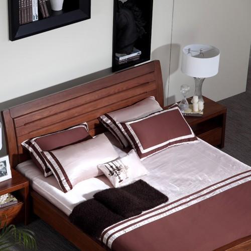 全实木床 现代简约中式双人床15