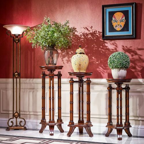 新古典美式客厅花架74