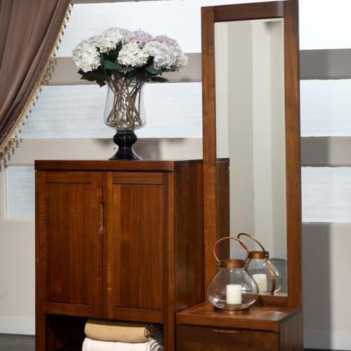 中式实木鞋柜 落地式门厅柜14