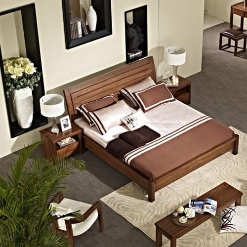 现代简约实木床 中式双人床11