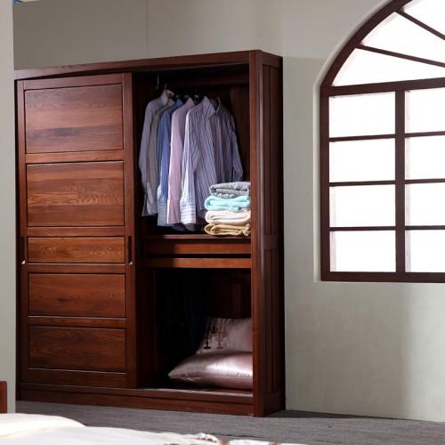实木衣柜 新中式推拉衣柜07