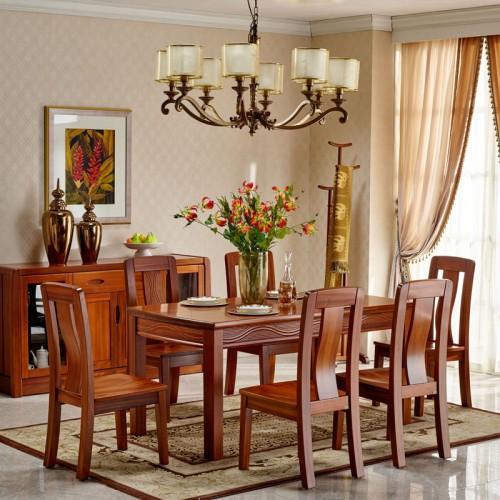 中式实木餐桌 现代餐厅家具10