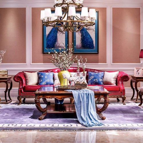 美式实木古典皮沙发 客厅沙发20