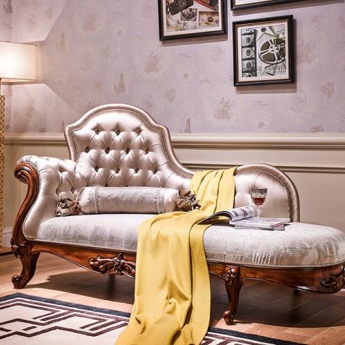 新古典美式实木美人榻 贵妃躺椅10