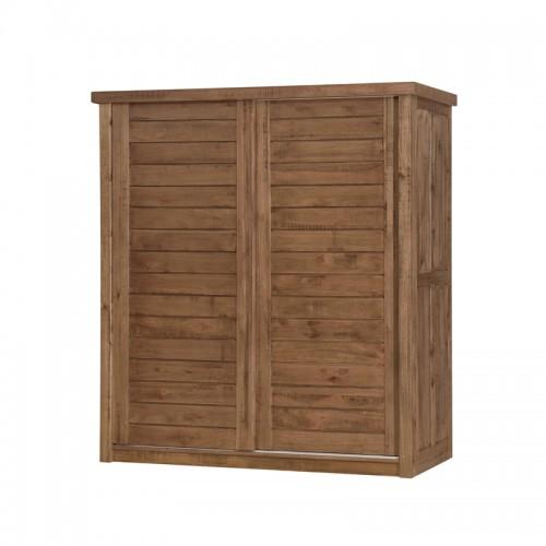 原生态卧室推拉衣柜P-W846