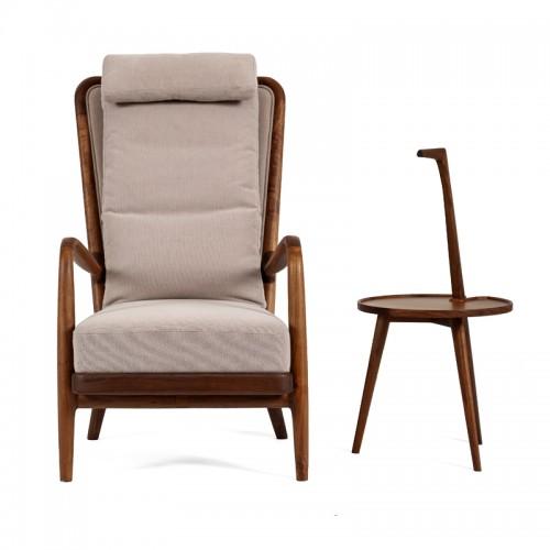 单人沙发椅 实木休闲