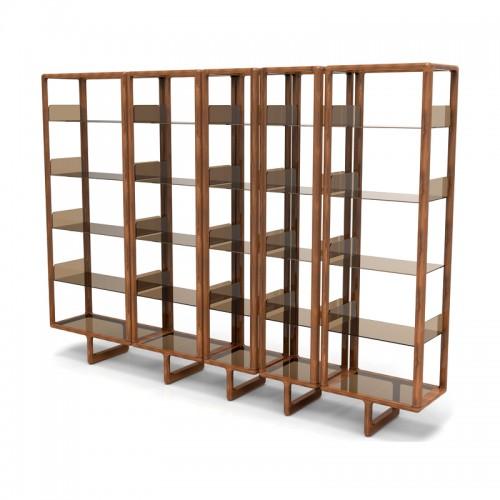 实木隔板落地架 书房