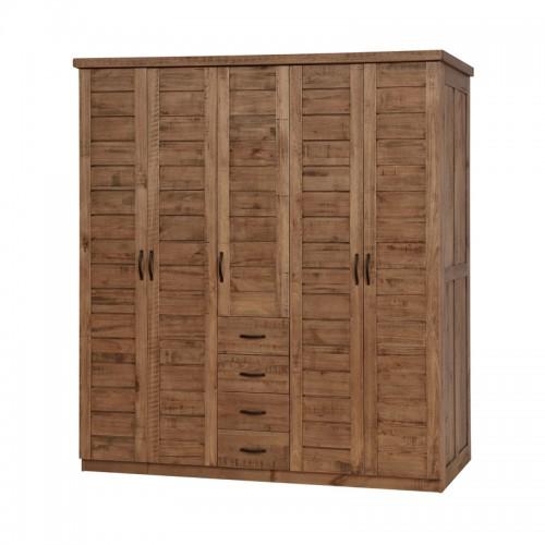 原生态实木带抽衣柜P-W865