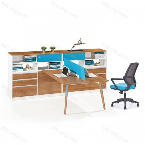 板式屏风员工位四人位 简约职员办公桌M17-F02D