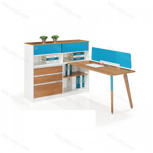 简约现代板式单人电脑桌 职员办公桌椅M17-F01D
