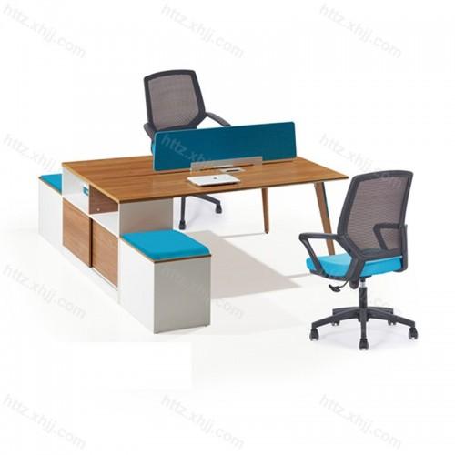 简约四人位职员桌 板式员工电脑桌M17-F02C