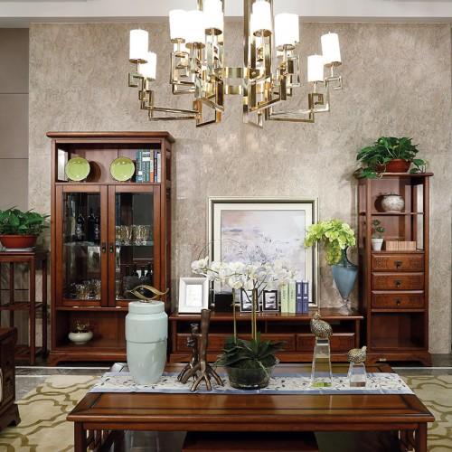 新中式  现代实木客厅电视柜茶几组合柜-IMGL6808