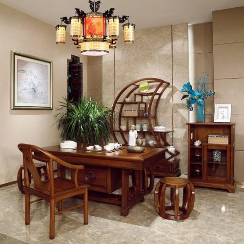 现代中式  时尚新中式实木茶台-IMGL6838