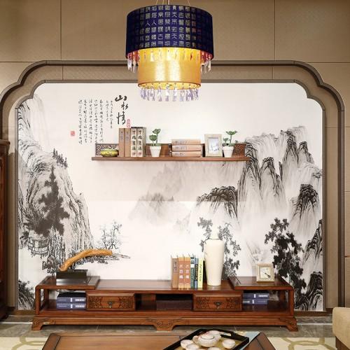 纯实木 中式客厅电视组合柜-IMGL6880